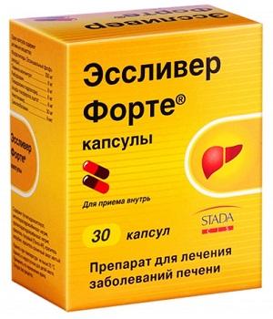 Лечение жирового гепатоза печени лекарством Ессливер