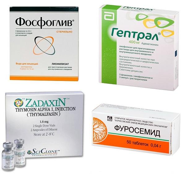 Медикаментозное лечение декомпенсированного цирроза печени