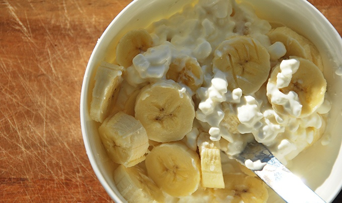 Рецепт бананов с творогом для диеты 5