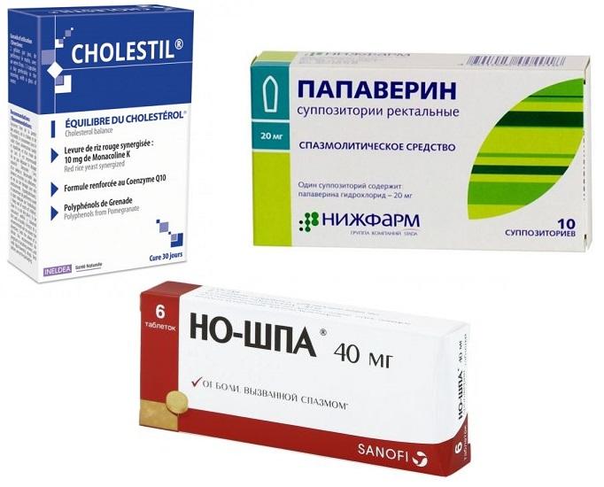 Лекарства для лечения взвеси в желчном пузыре