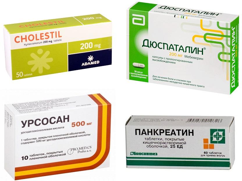 Лекарства для лечения желчного пузыря